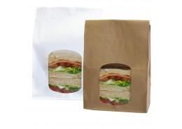 White Kraft Window Bag