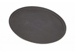 Oval Fibreglass Tread Trays Black