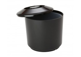 Insulated Round Ice Bucket Black 4.5Ltr