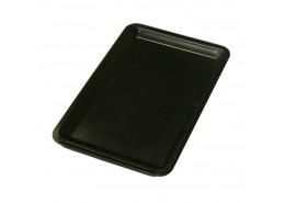 Tip Tray Black Plastic Plain