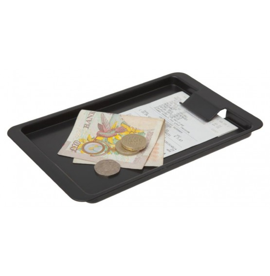 Tip Tray Black Plastic with Clip