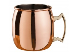 Mezclar Curved Moscow Mule Mug Copper Plated - Brass Handle