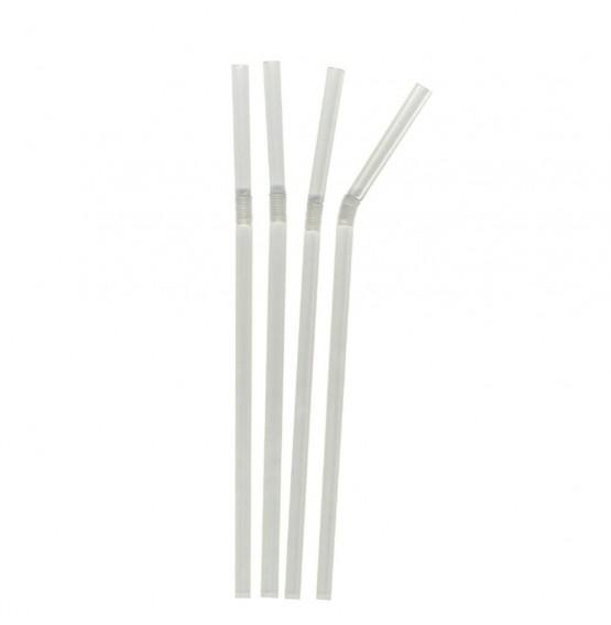 Clear Bendy Jumbo Straw