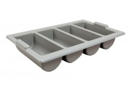 Cutlery Tray / Box Plastic Grey