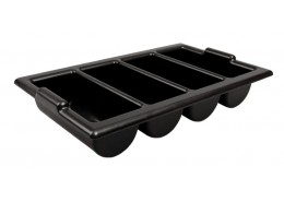 Cutlery Tray / Box Plastic Black