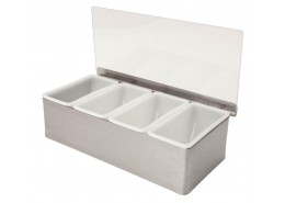 Condiment Holder 4 Compartment x 1 Pint
