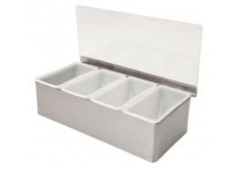 Condiment Holder 4 Compartment x 1 Pint