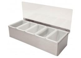 Condiment Holder 5 Compartment x 1 Pint