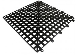 Interlocking Bar Shelf Tile Black