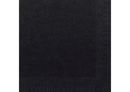 Duni Tissue Napkins 2ply Black