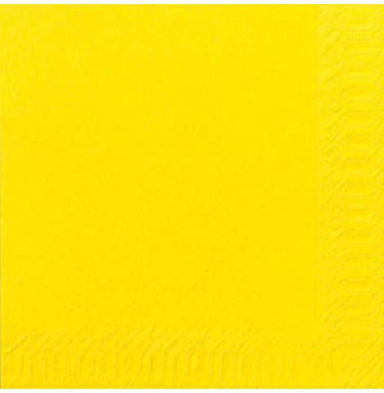 Duni Tissue Napkins 3ply Yellow