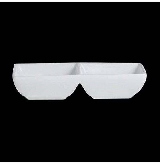 Varick Cafe Porcelain Double Well Rectangle Tray