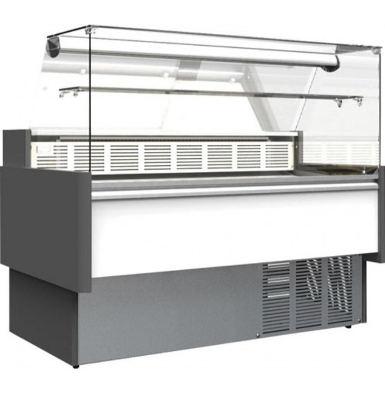 160L Flat Glass Serve Over Counter
