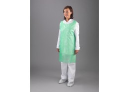 Green Polythene Aprons on a Roll