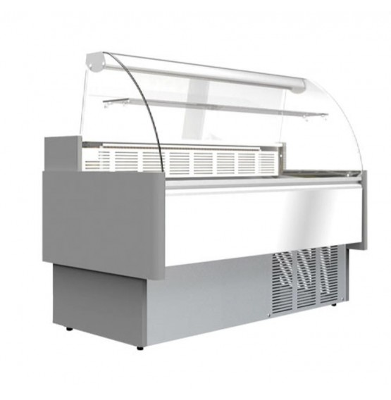 337L Flat Glass Serve Over Counter