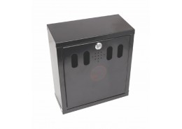 Wall-Mounted Outdoor Ashtray Black