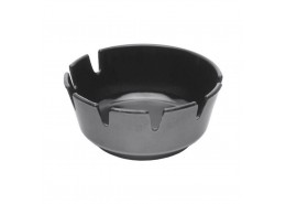 Melamine Deep Ashtray Black