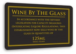 Wine By the Glass 125ml Sign