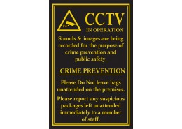CCTV in Operation/Crime Prevention Sign