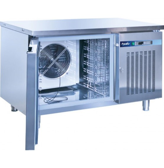 7 x 1/1GN Stainless Steel Bench Style Blast Chiller