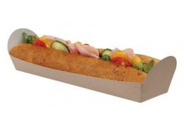 Open Baguette Kraft Tray