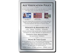 Age Verification Sign Brushed Silver