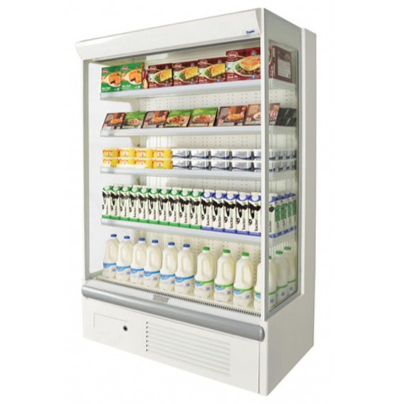 1250mm Low Fronted White Multideck