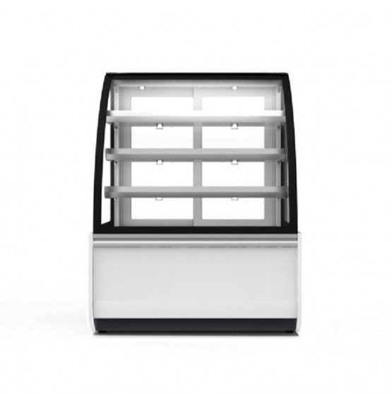 Refrigerated Curved Glass White/Grey Patisserie Counter