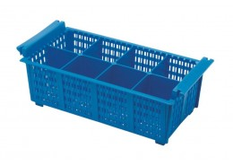 Cutlery Basket 8 Compartment Blue