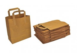 Medium Brown Carrier Bag with Handle