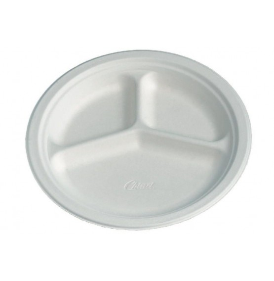 Chinet 3 Compartment Plate