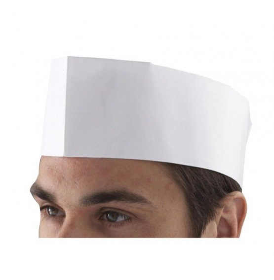 Chefs Disposable Paper Forage Hat