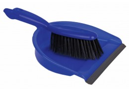 Blue Dustpan & Stiff Brush Set