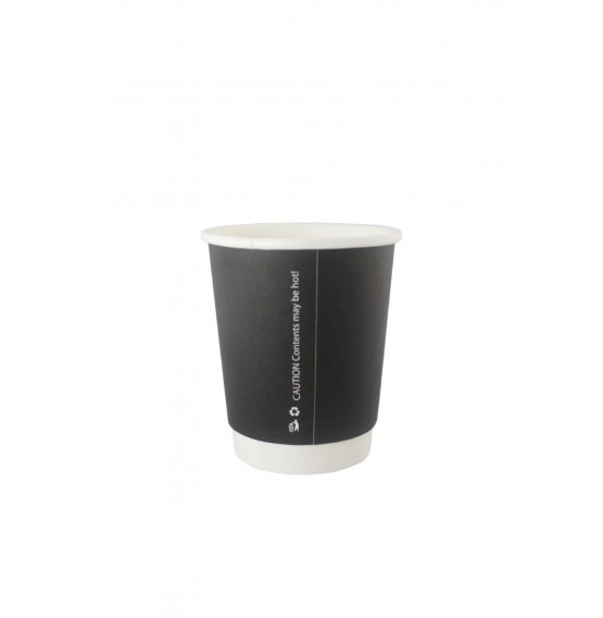 Double Wall Black Hot Paper Cup