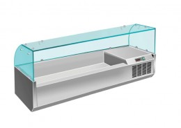 6 x 1/3GN Glass Topping Unit