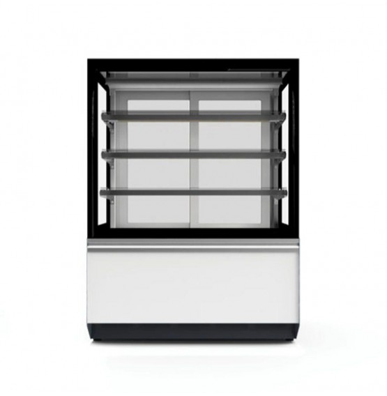 Ambient Flat Glass White/Grey Patisserie Counter