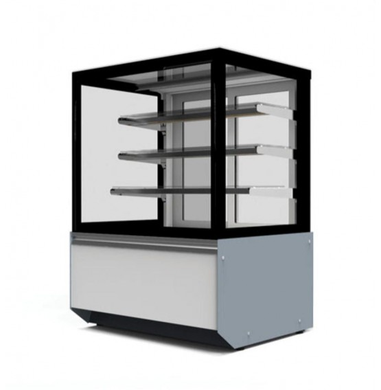 Refrigerated Flat Glass White/Grey Patisserie Counter