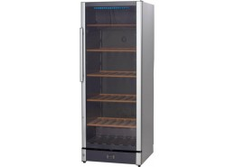 86 Bottle Wine Cooler Silver Finish