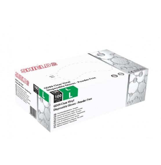 Clear Vinyl Powder Free Gloves