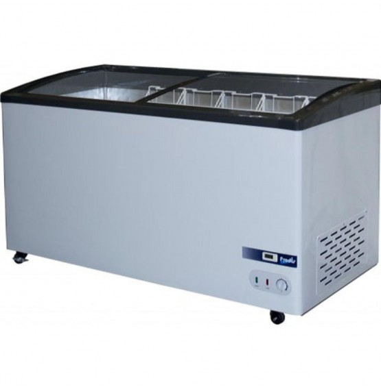 395L Curved Glass Display Chest Freezer