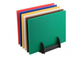 High Density Chopping Board Set & Rack