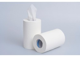 White Mini Centre Feed 1ply