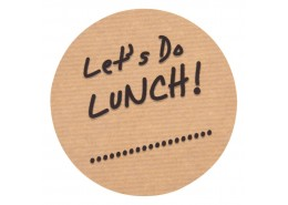 """Let's Do Lunch"" Label"