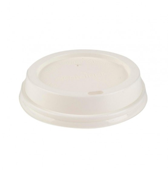 White Compostable Sipper Lid
