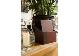 Contemporary Menu Box + 20 A4 Wine Red Menus