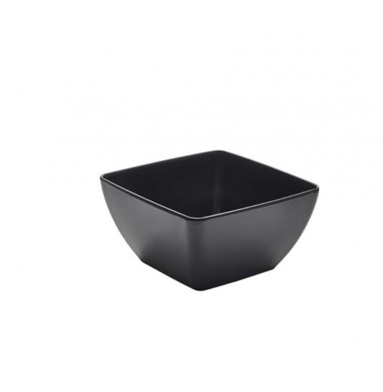 Black Melamine Curved Square Bowl