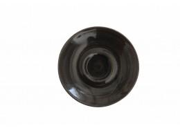 Monochrome Iron Black Saucer