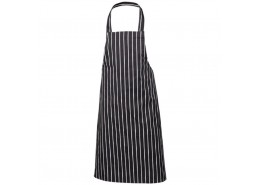 Navy Blue Butchers Stripe Bib Apron