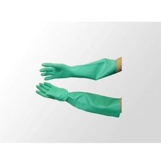 Nitrile Gauntlet Gloves Green