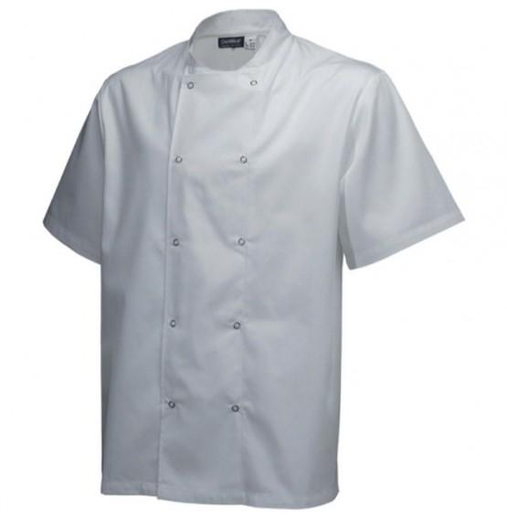 Basic Stud Jacket (Short Sleeve) White